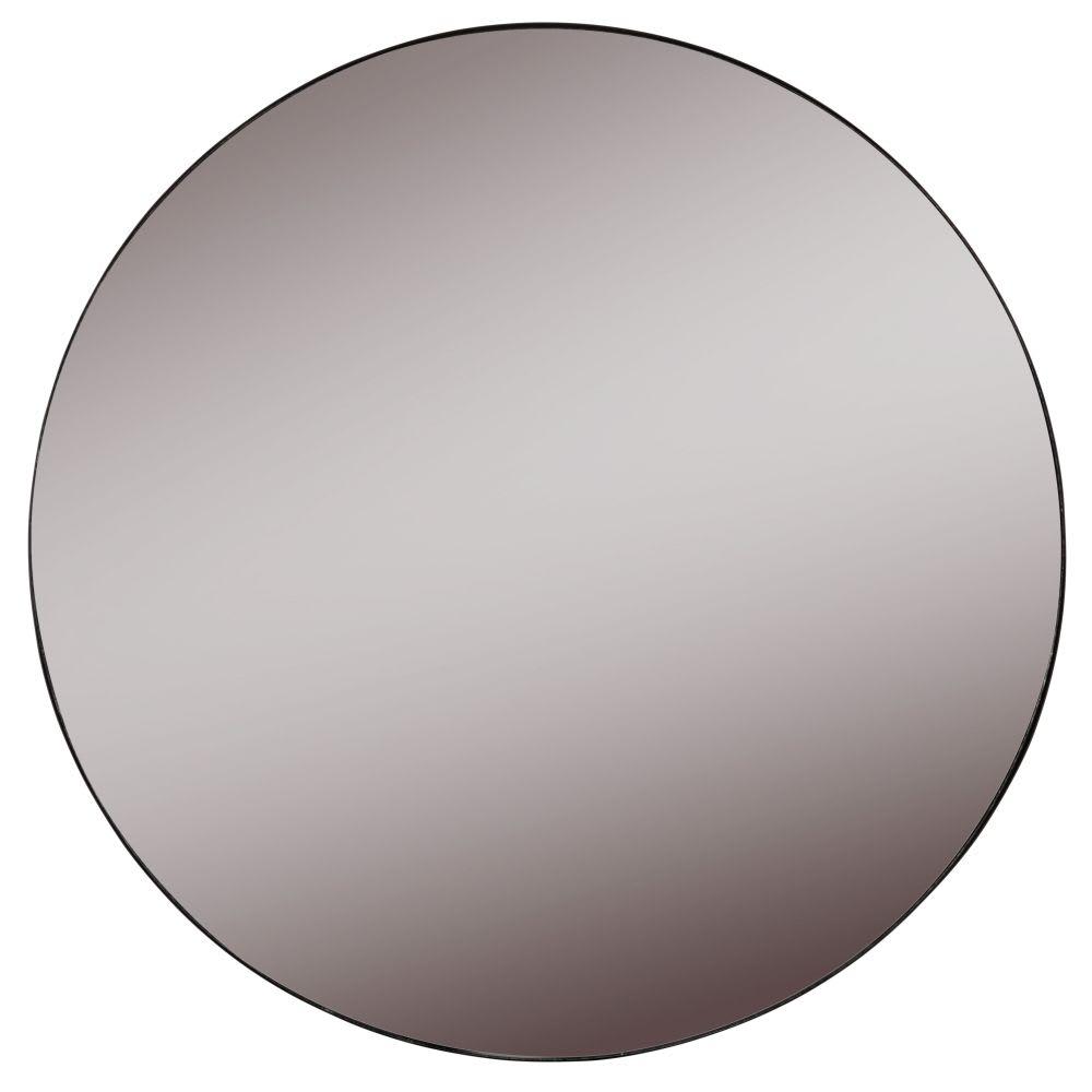 miroir rond en m tal fum noir d60 benny maisons du monde. Black Bedroom Furniture Sets. Home Design Ideas