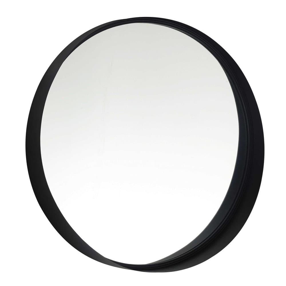 Miroir rond en m tal noir d60 clifford maisons du monde for Miroir rond metal noir