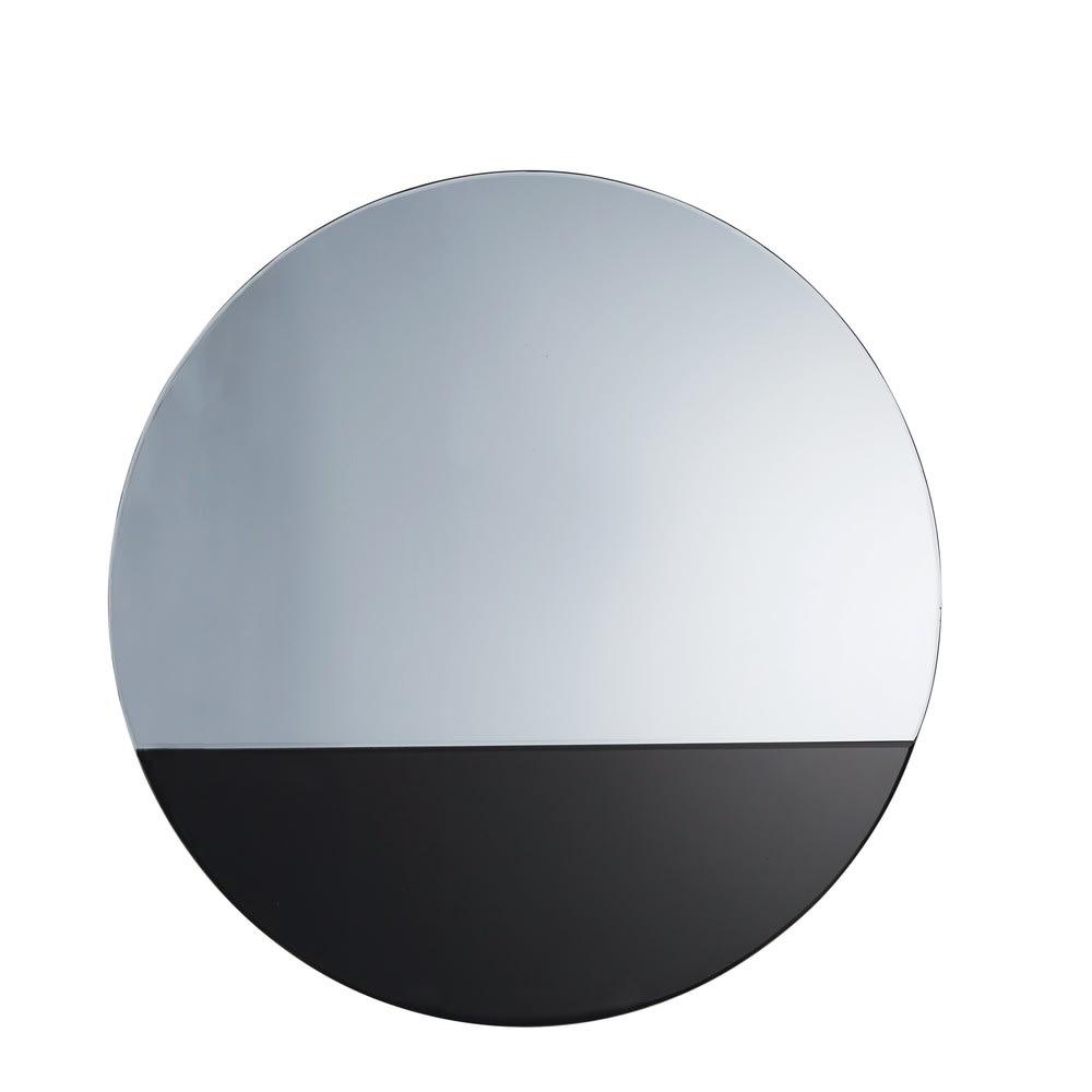 miroir rond en verre teint noir d99 backstage maisons. Black Bedroom Furniture Sets. Home Design Ideas