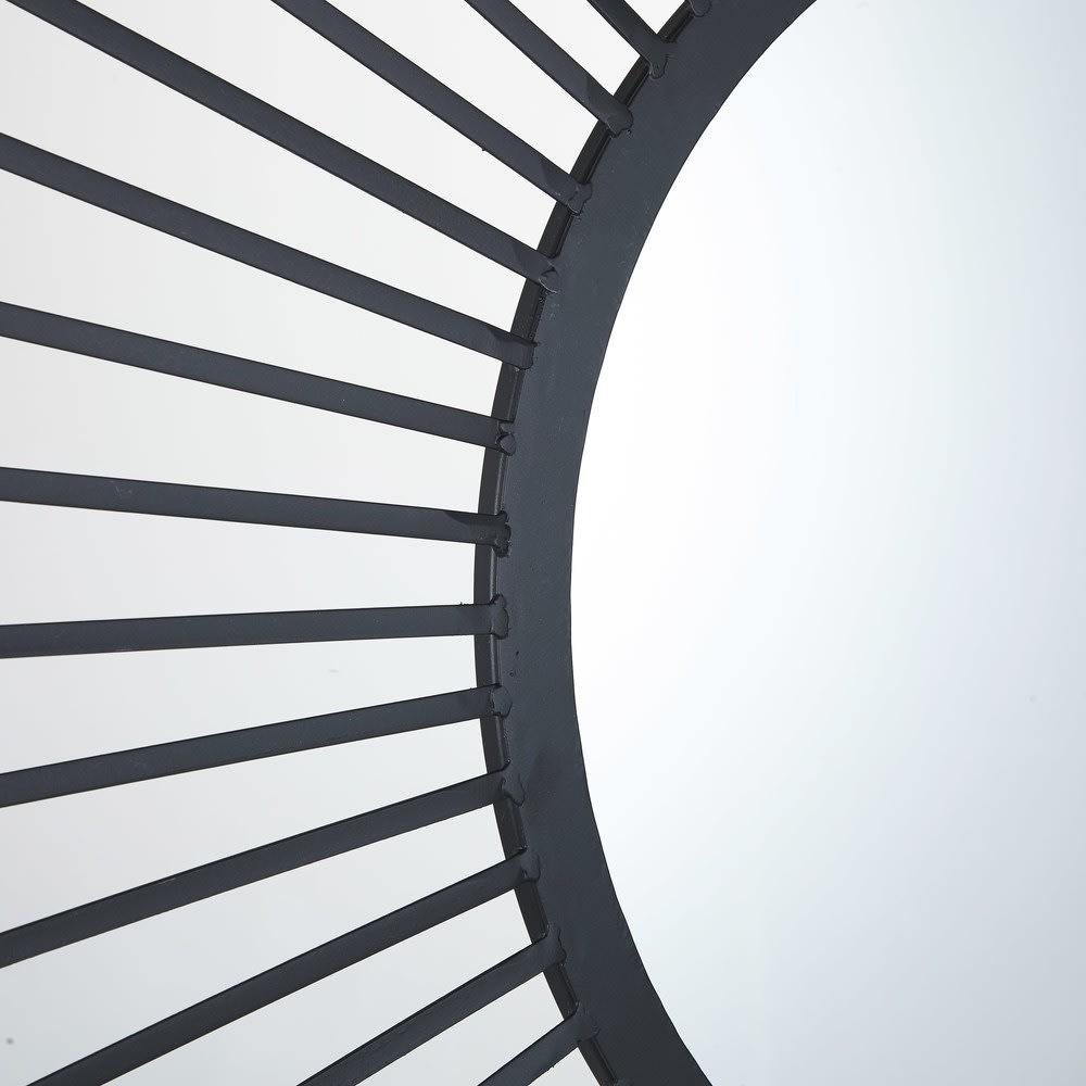 miroir rond filaire noir d100 milane maisons du monde. Black Bedroom Furniture Sets. Home Design Ideas