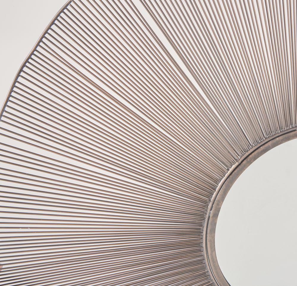 miroir rond filaire noir d100 adonis maisons du monde. Black Bedroom Furniture Sets. Home Design Ideas