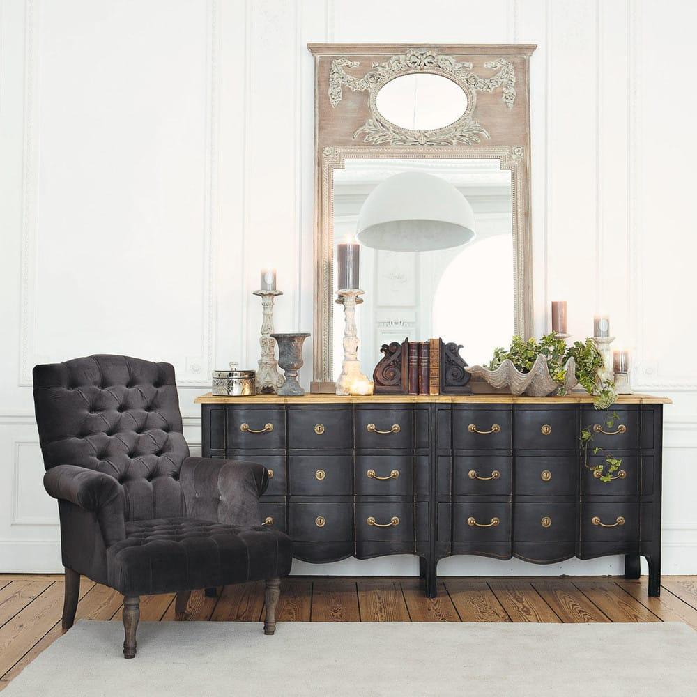 miroir trumeau en sapin h 160 cm mirano maisons du monde. Black Bedroom Furniture Sets. Home Design Ideas
