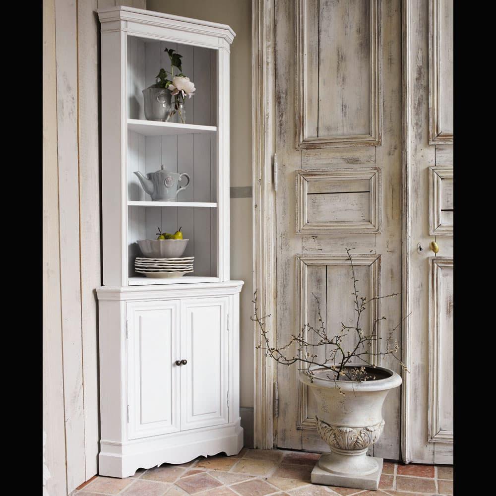 Mobile ad angolo bianco in legno di paulonia l 73 cm jos phine maisons du monde - Mobile ad angolo ...