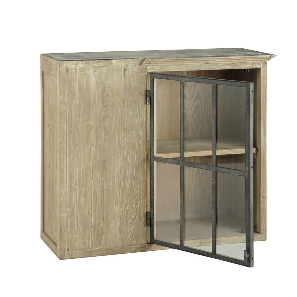Mobile alto grigio ad angolo da cucina in legno riciclato L 97 cm ...