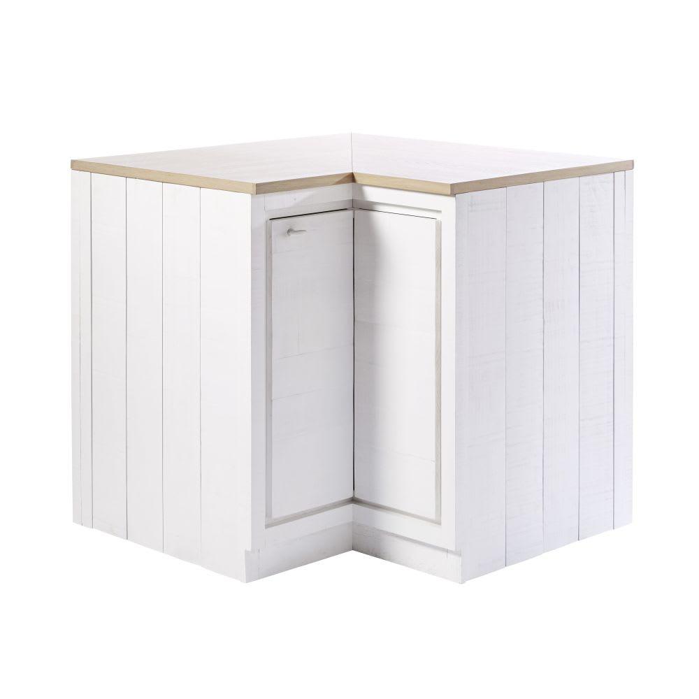 Mobile basso ad angolo da cucina a 1 anta bianco Embrun | Maisons du ...