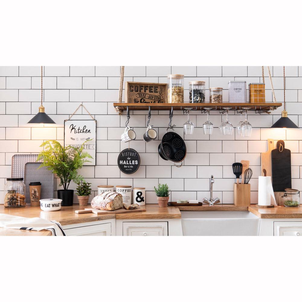 Mobile basso avorio ad angolo da cucina in mango 133 cm Eleonore  Maisons du Monde