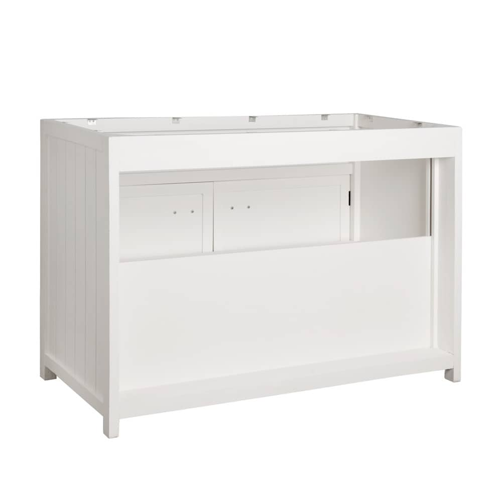 Mobile basso bianco da cucina in legno 120 cm Newport | Maisons du Monde