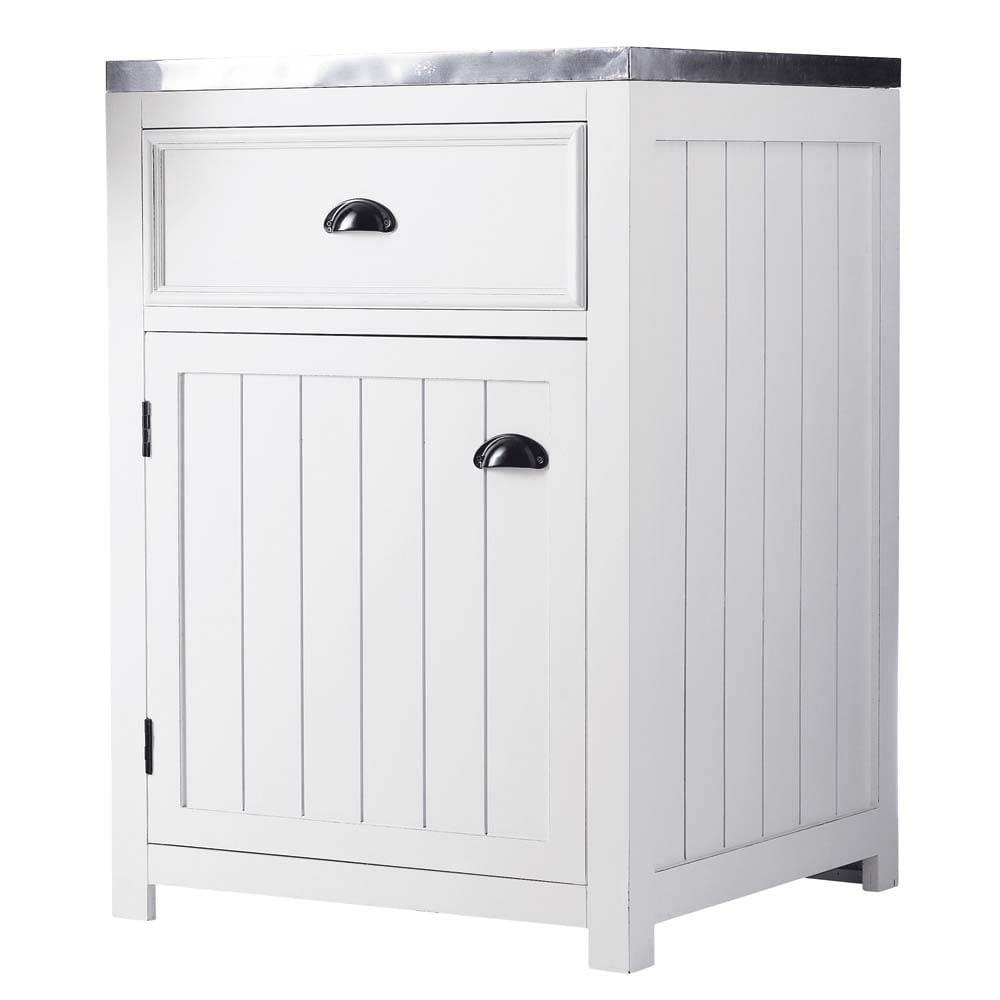 Mobile basso bianco da cucina in legno con apertura a destra L 60 cm Newport  Maisons du Monde