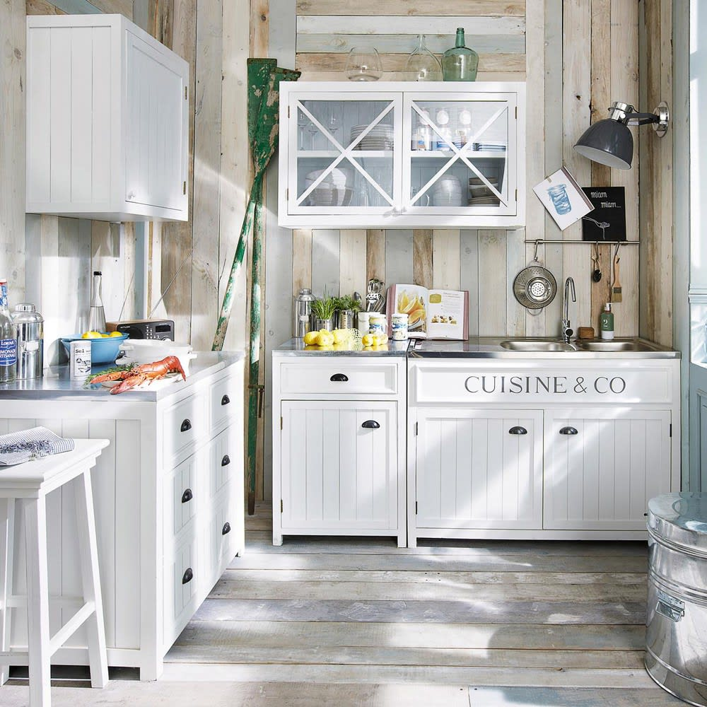 Mobile Basso Bianco Da Cucina In Legno Con Apertura A Sinistra 60 Cm