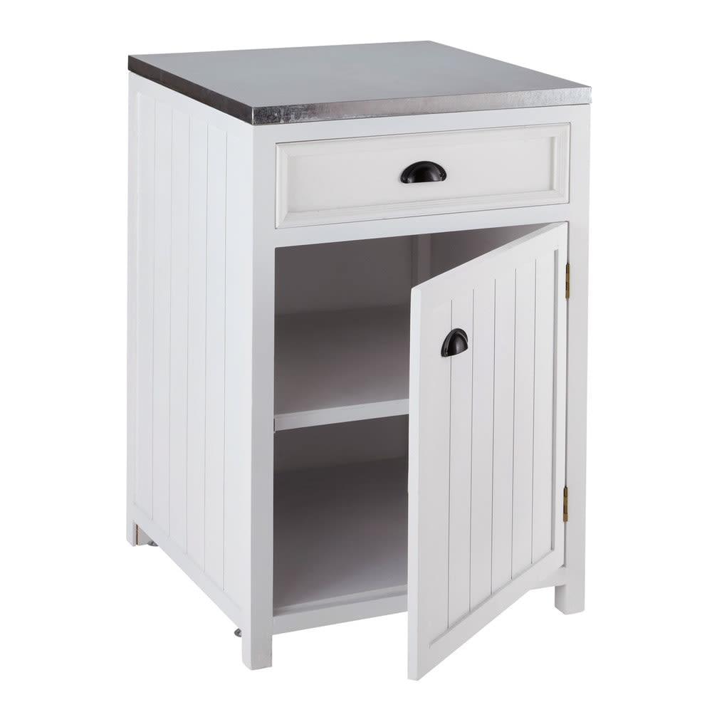 Mobile basso bianco da cucina in legno con apertura a sinistra 60 cm ...