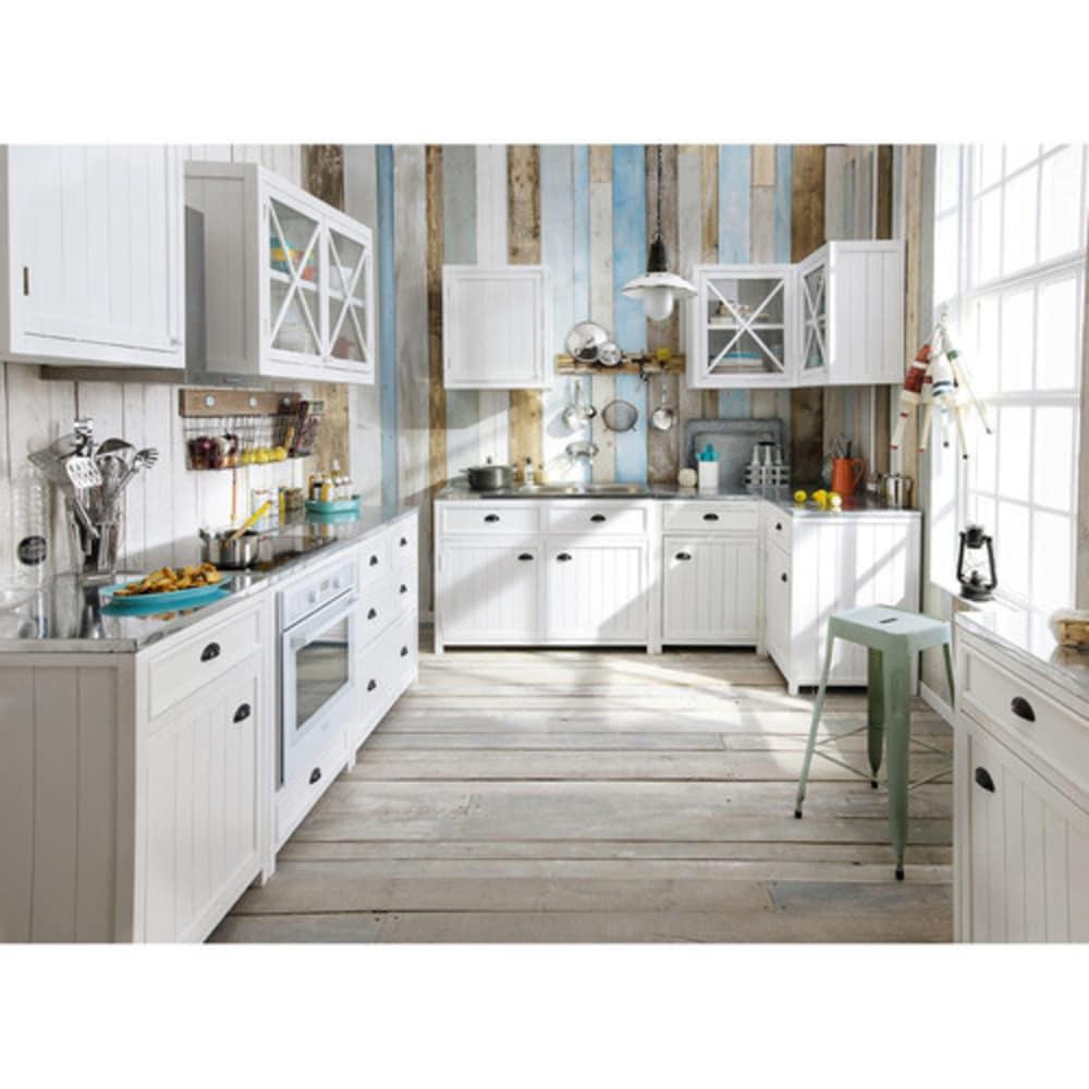 Mobile basso bianco da cucina in legno per forno 70 cm Newport ...
