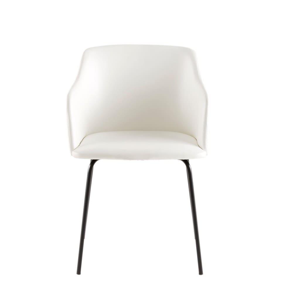 Moderner Weißer Sessel Farell Maisons Du Monde