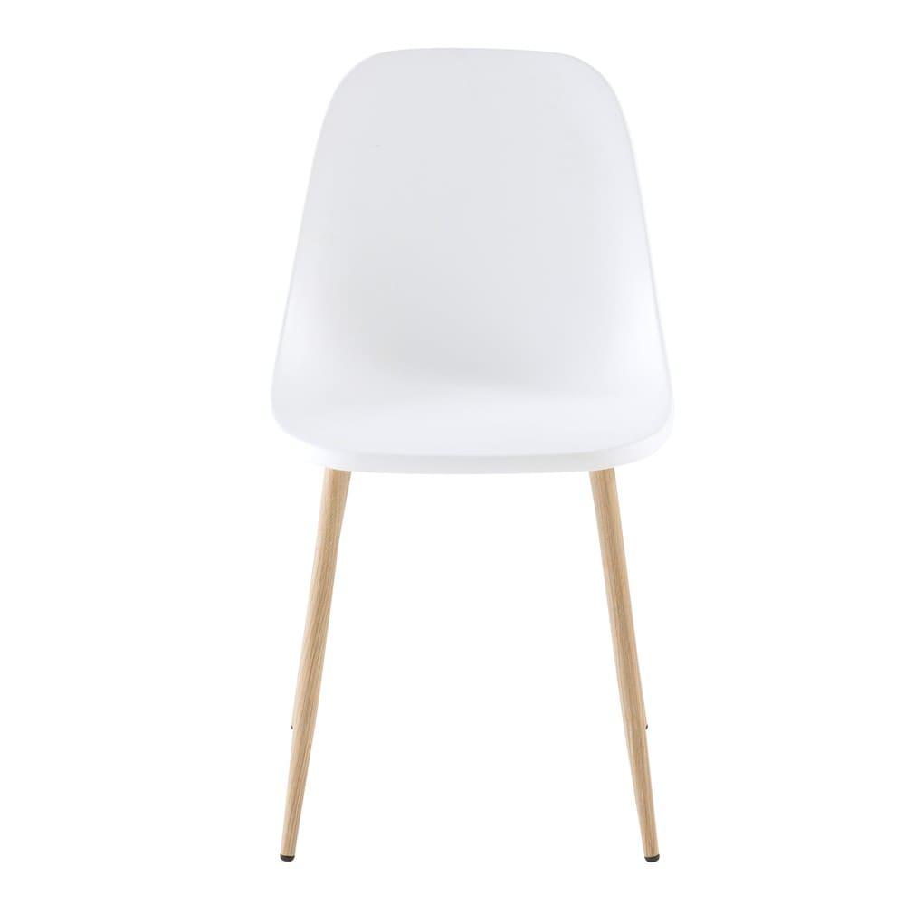 Moderner Weißer Stuhl Fibule Maisons Du Monde