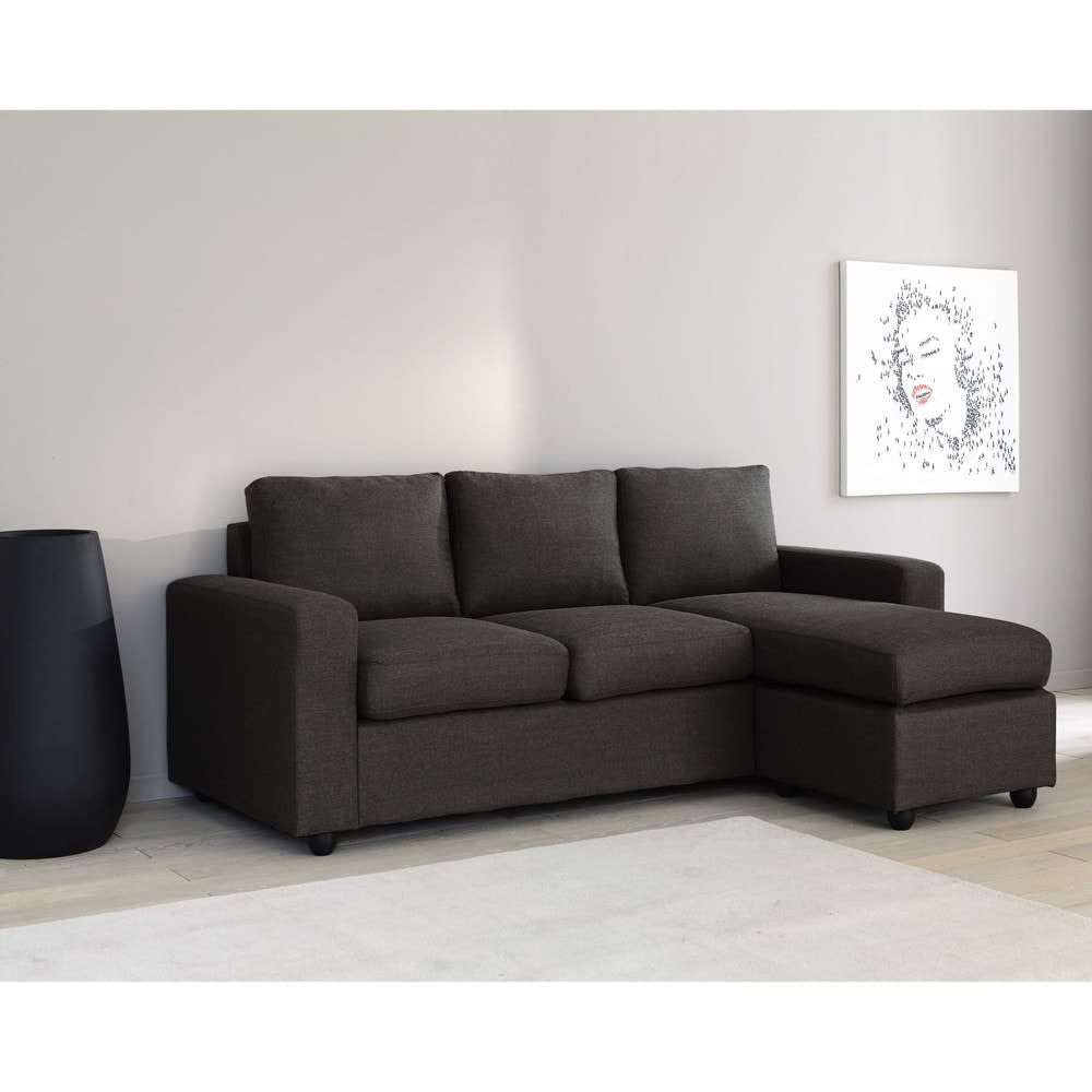Divani Angolari Maison Du Monde.Modular 3 Seater Corner Sofa In Grey Jules Maisons Du Monde
