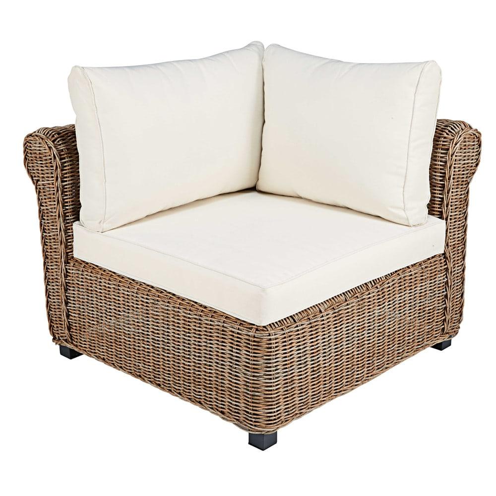 Garden Sofa Corner Unit: Modular Corner Unit Of Garden Sofa In Resin Wicker With