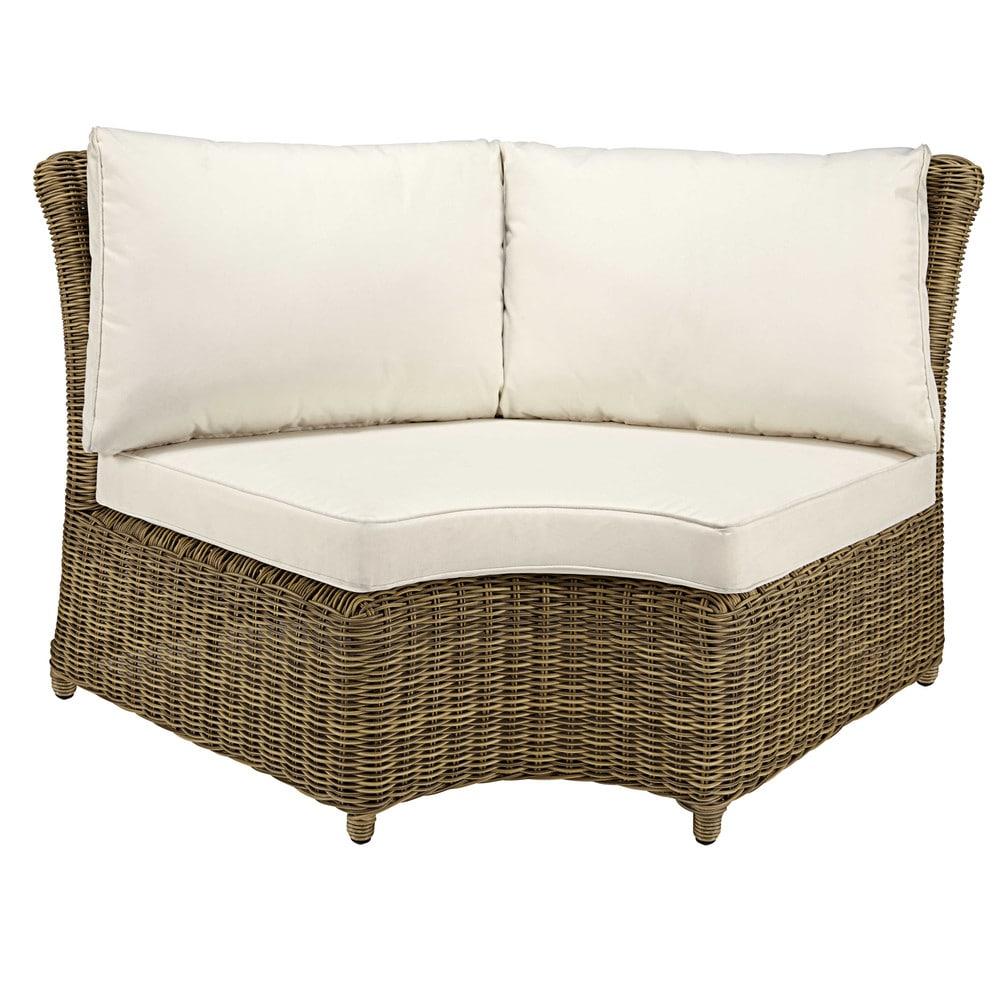 modular round garden corner sofa unit in grey resin wicker. Black Bedroom Furniture Sets. Home Design Ideas