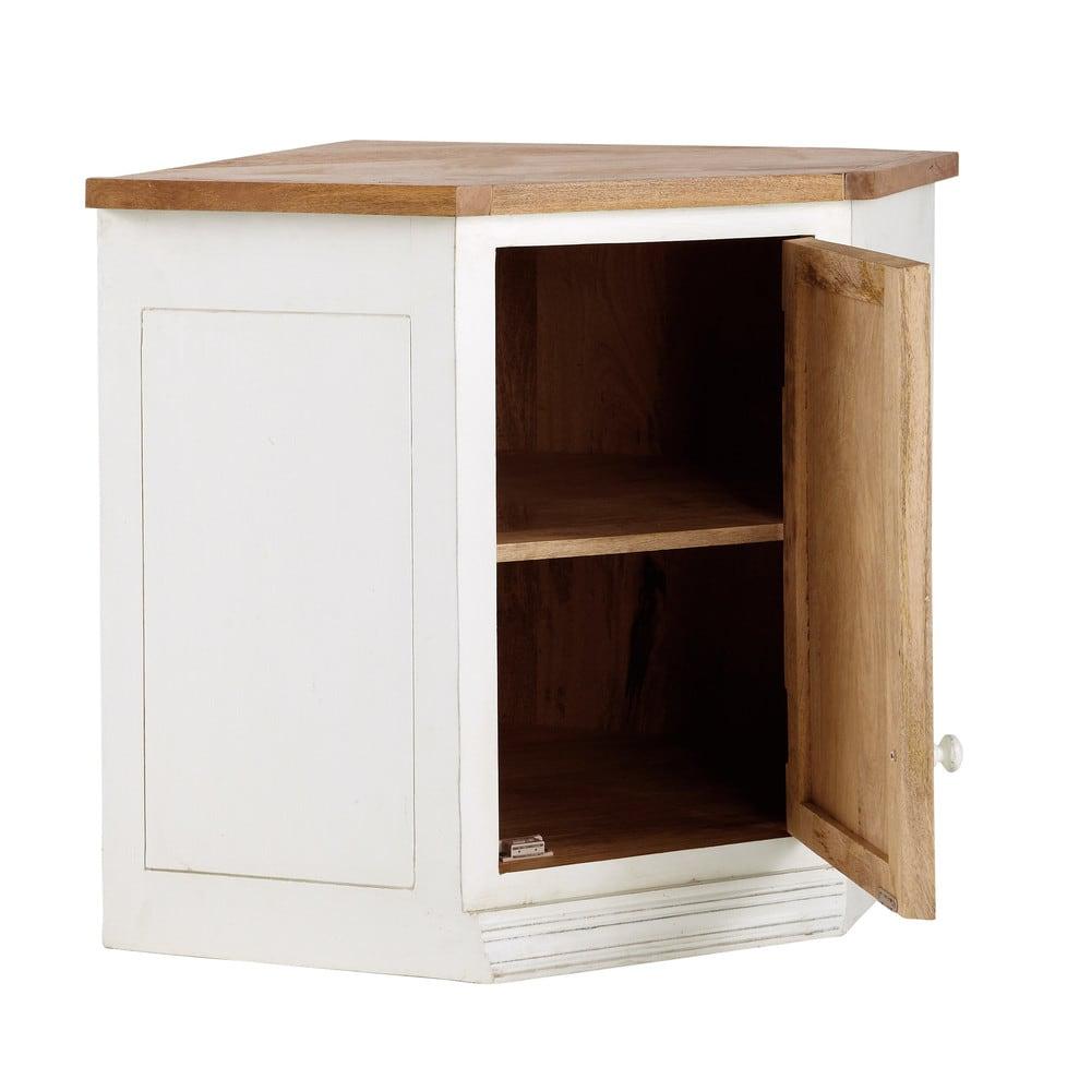 Mueble alto de cocina esquinero de madera de mango color - Mueble esquinero cocina ...