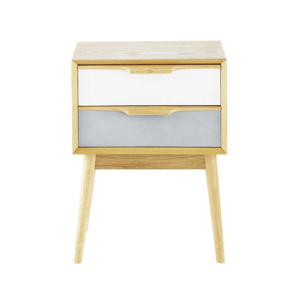 Nachttisch im Vintage-Stil mit 2 Schublade Fjord | Maisons du Monde