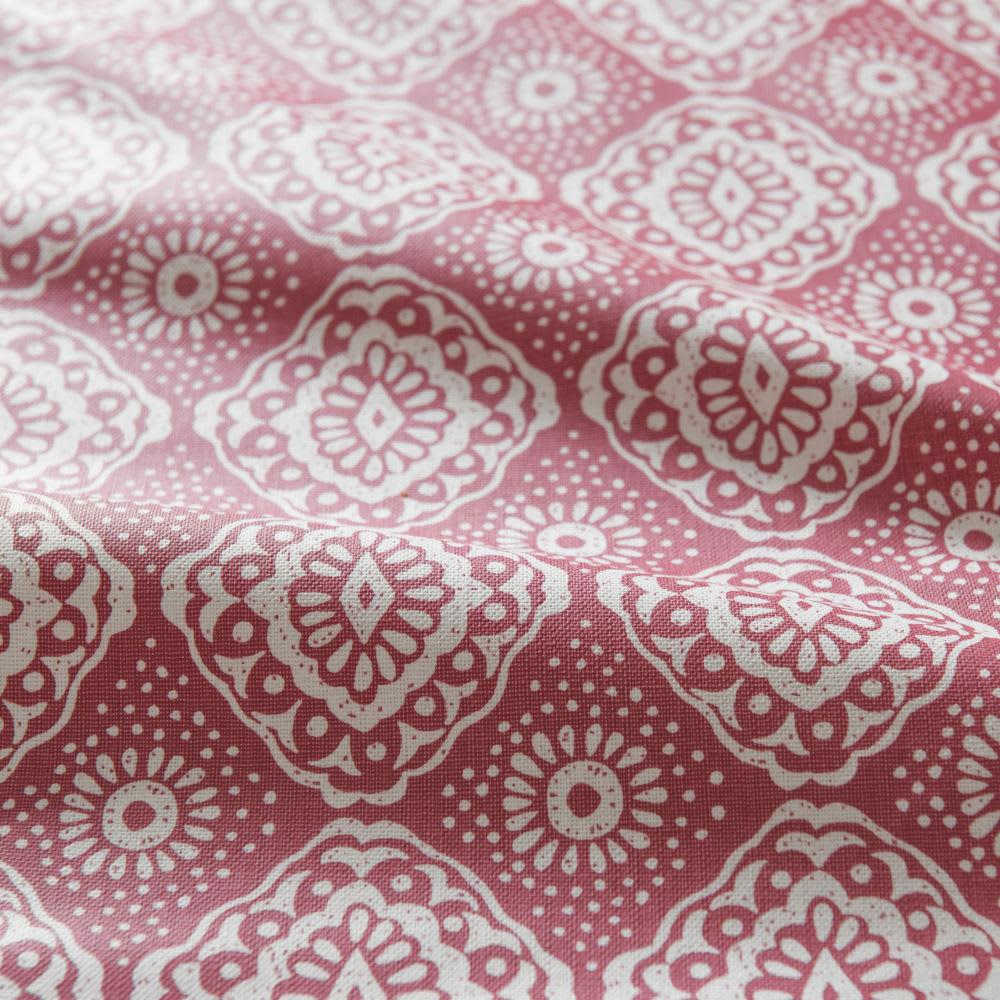 nappe en coton enduit rouge motifs carreaux de ciment. Black Bedroom Furniture Sets. Home Design Ideas