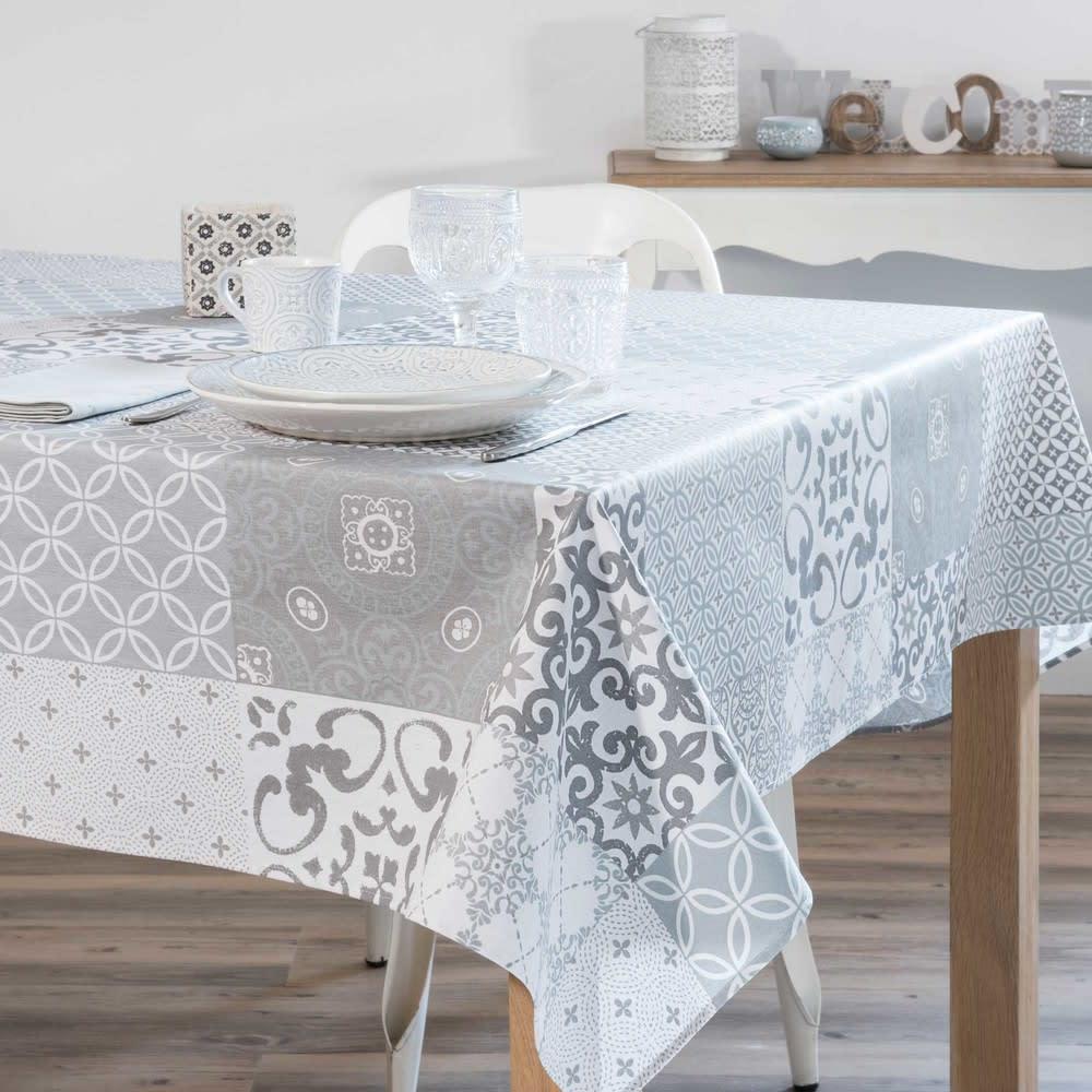 nappe grise motifs carreaux de ciment 178x178 sera. Black Bedroom Furniture Sets. Home Design Ideas