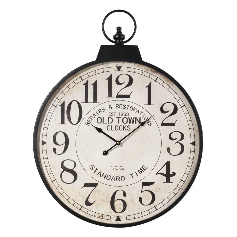 Orologio in metallo a forma di orologio da taschino d 60 for Orologi da parete maison du monde