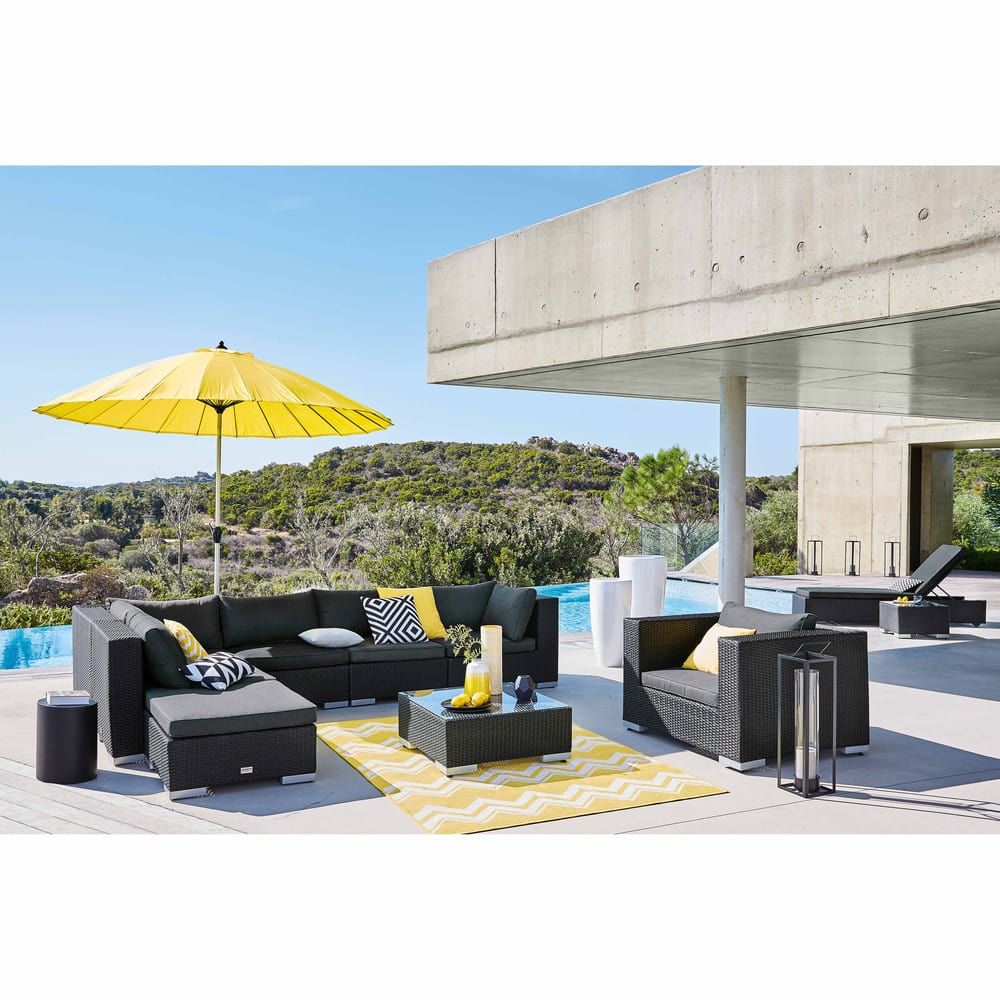 outdoor kissen 50x50 gelb maisons du monde. Black Bedroom Furniture Sets. Home Design Ideas