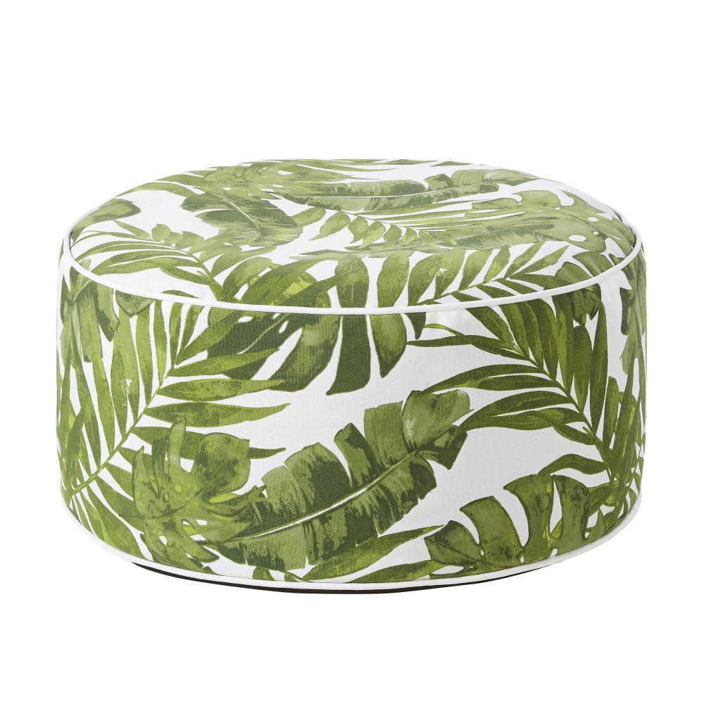Outdoor-Sitzsack aufblasbar, weiß, bedruckt mit Pflanzenmotiv ...