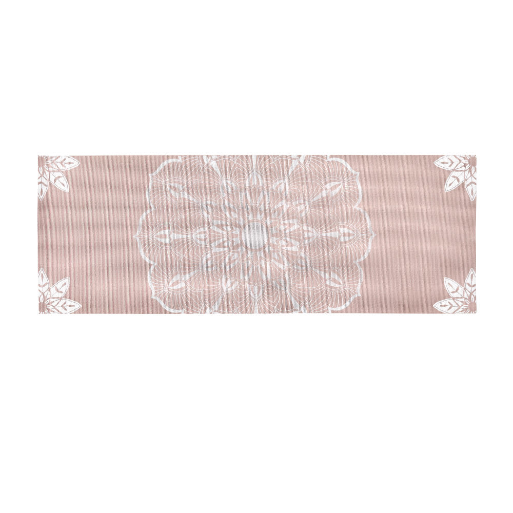 147d2147ed Outdoor Yoga Mat and Bag in Pink with White Mandala Print Happy Zen ...