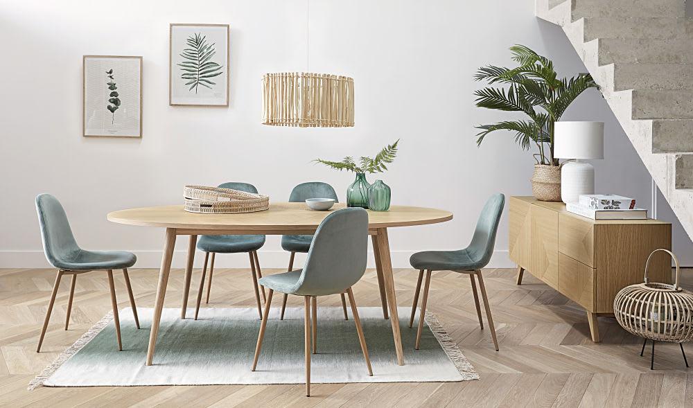 ovale esstisch 8 personen l200 origami maisons du monde. Black Bedroom Furniture Sets. Home Design Ideas