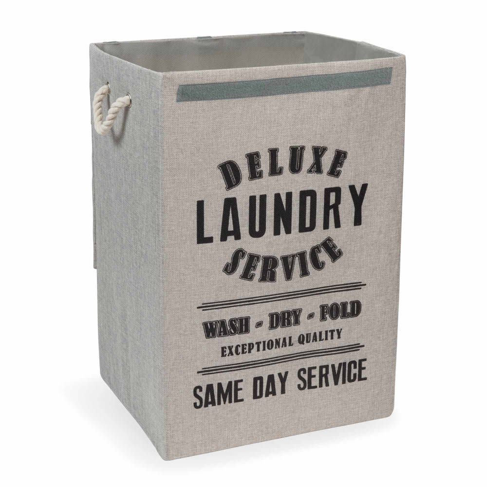 panier linge en tissu laundry deluxe maisons du monde. Black Bedroom Furniture Sets. Home Design Ideas