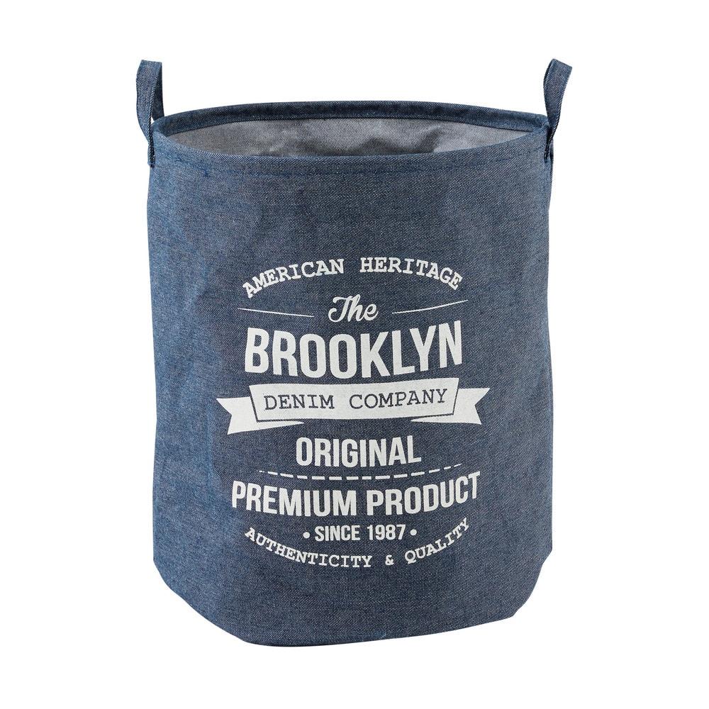 Panier À Linge Original panier à linge imprimé effet jean