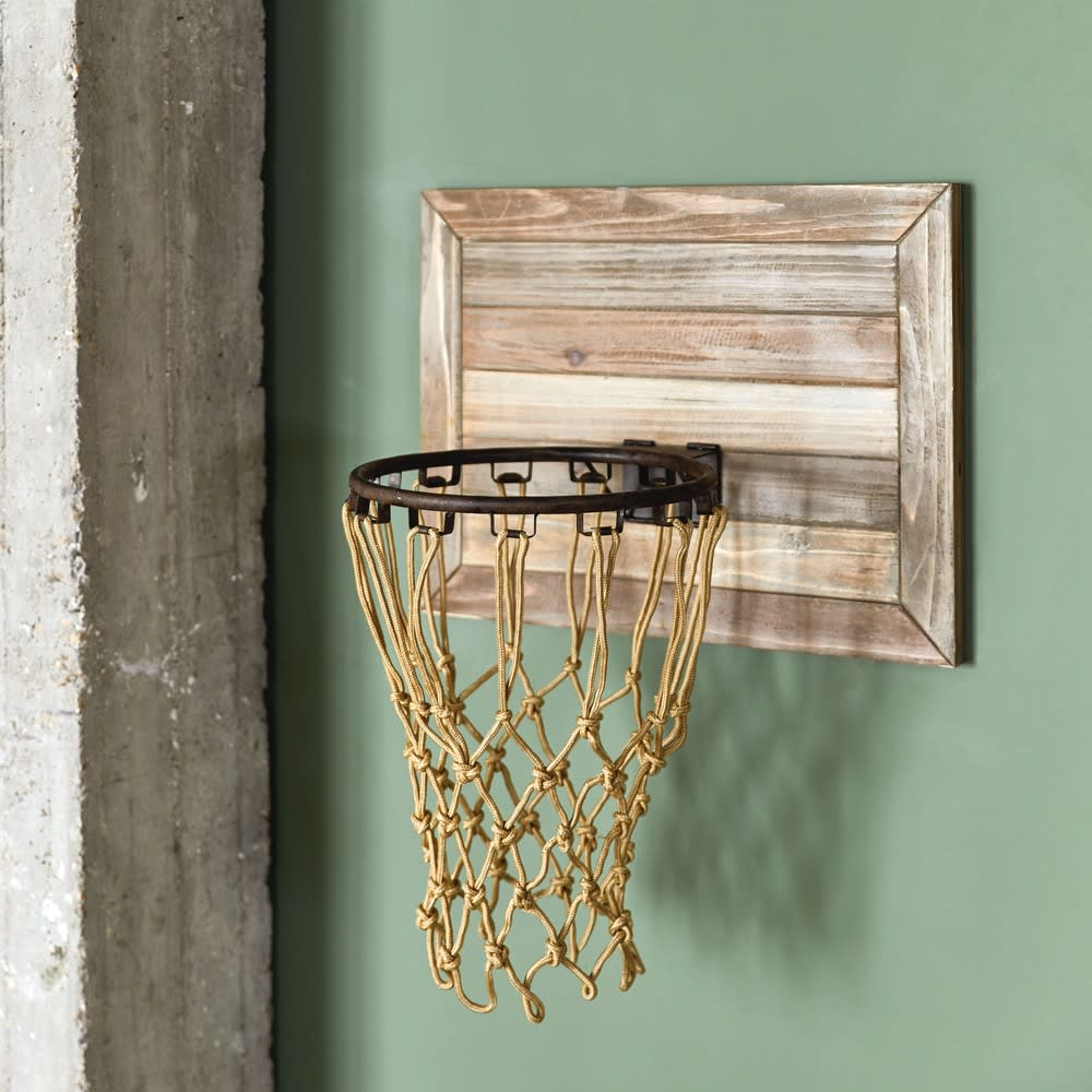 panier de basket mural en sapin detroit maisons du monde. Black Bedroom Furniture Sets. Home Design Ideas
