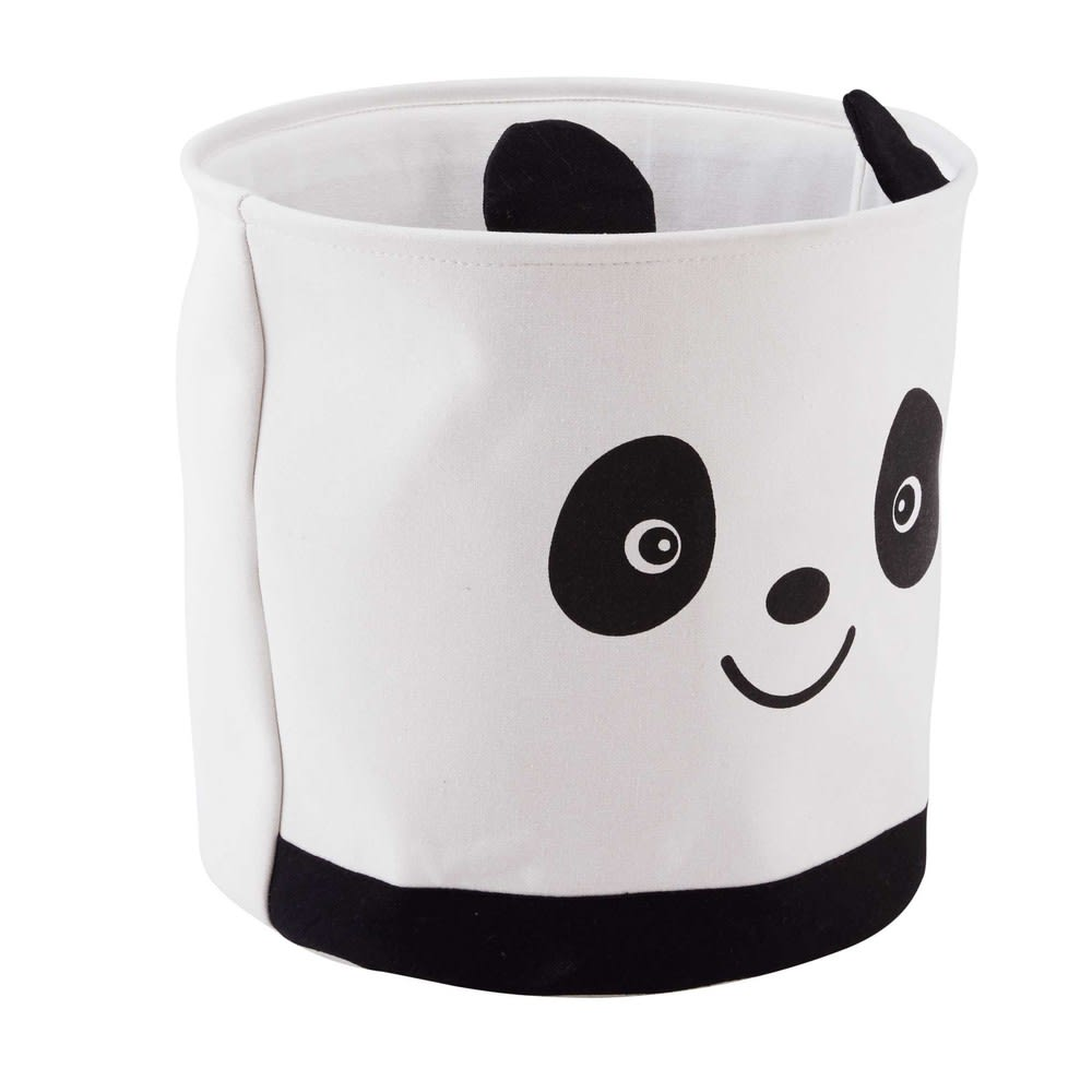 panier de rangement panda en tissu graphikids maisons du monde. Black Bedroom Furniture Sets. Home Design Ideas