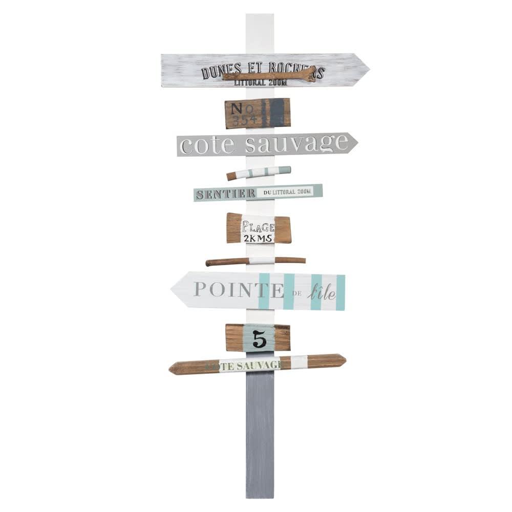 panneau d co de direction 32x76 maisons du monde. Black Bedroom Furniture Sets. Home Design Ideas