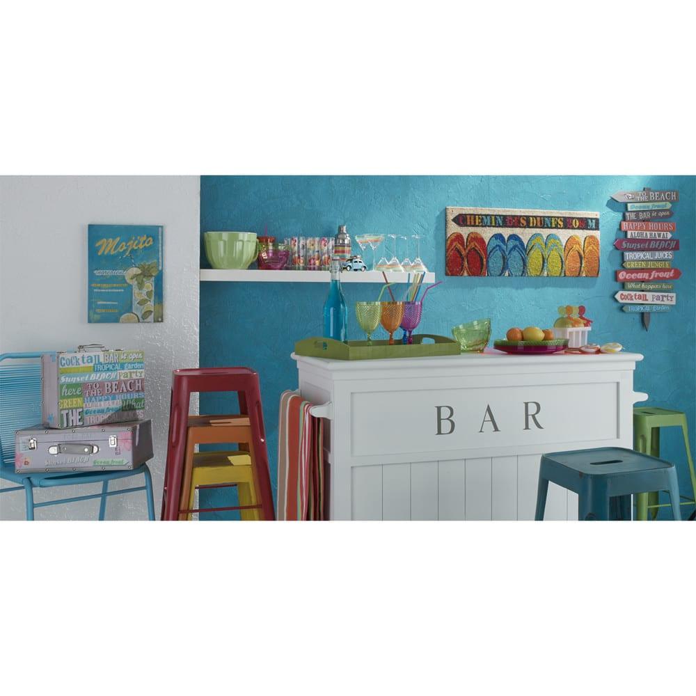 panneau d co de direction multicolore en pin 45x80 fiesta maisons du monde. Black Bedroom Furniture Sets. Home Design Ideas