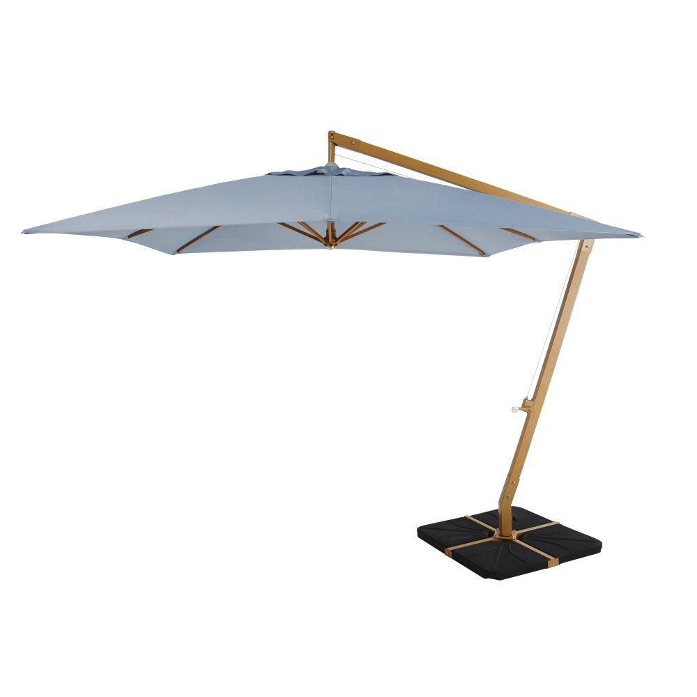 parasol d port en aluminium et toile bleu jean camberra. Black Bedroom Furniture Sets. Home Design Ideas