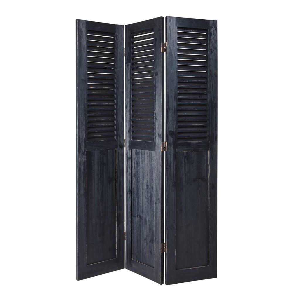 Paravento in legno d\'abete nero Porquerolles | Maisons du Monde