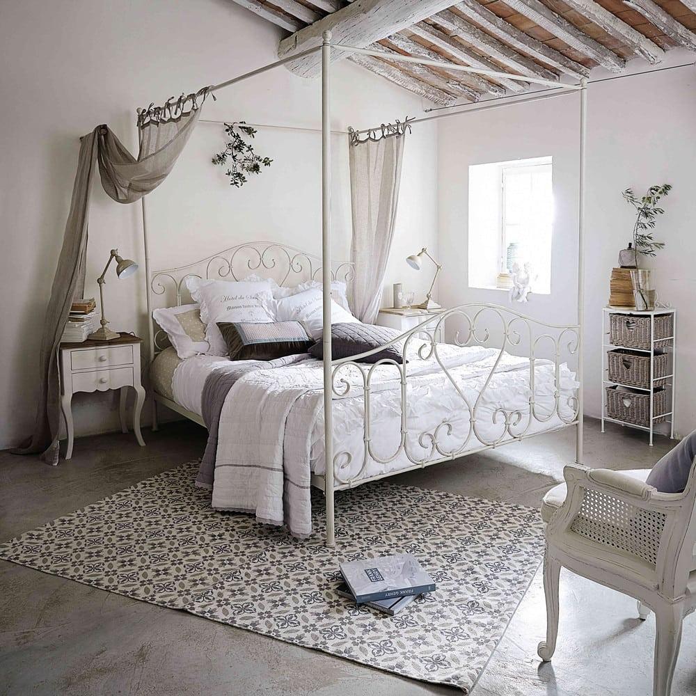 parure de lit en coton blanche 220x240 sans souci. Black Bedroom Furniture Sets. Home Design Ideas