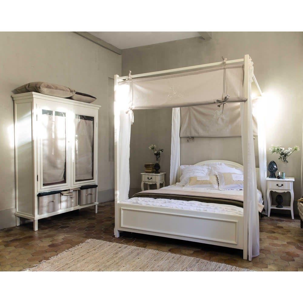 parure de lit en coton blanche 240 x 260 cm sans souci. Black Bedroom Furniture Sets. Home Design Ideas