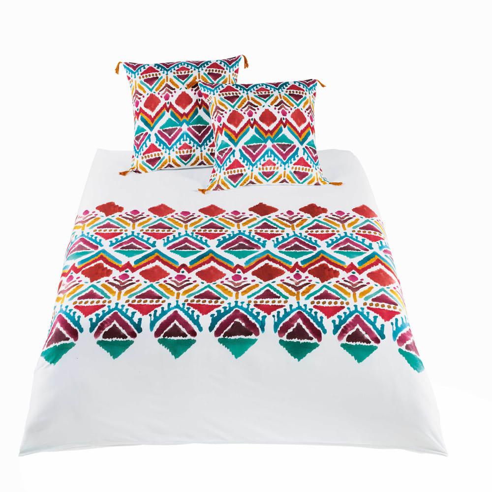 parure de lit en coton imprim ethnique multicolore. Black Bedroom Furniture Sets. Home Design Ideas