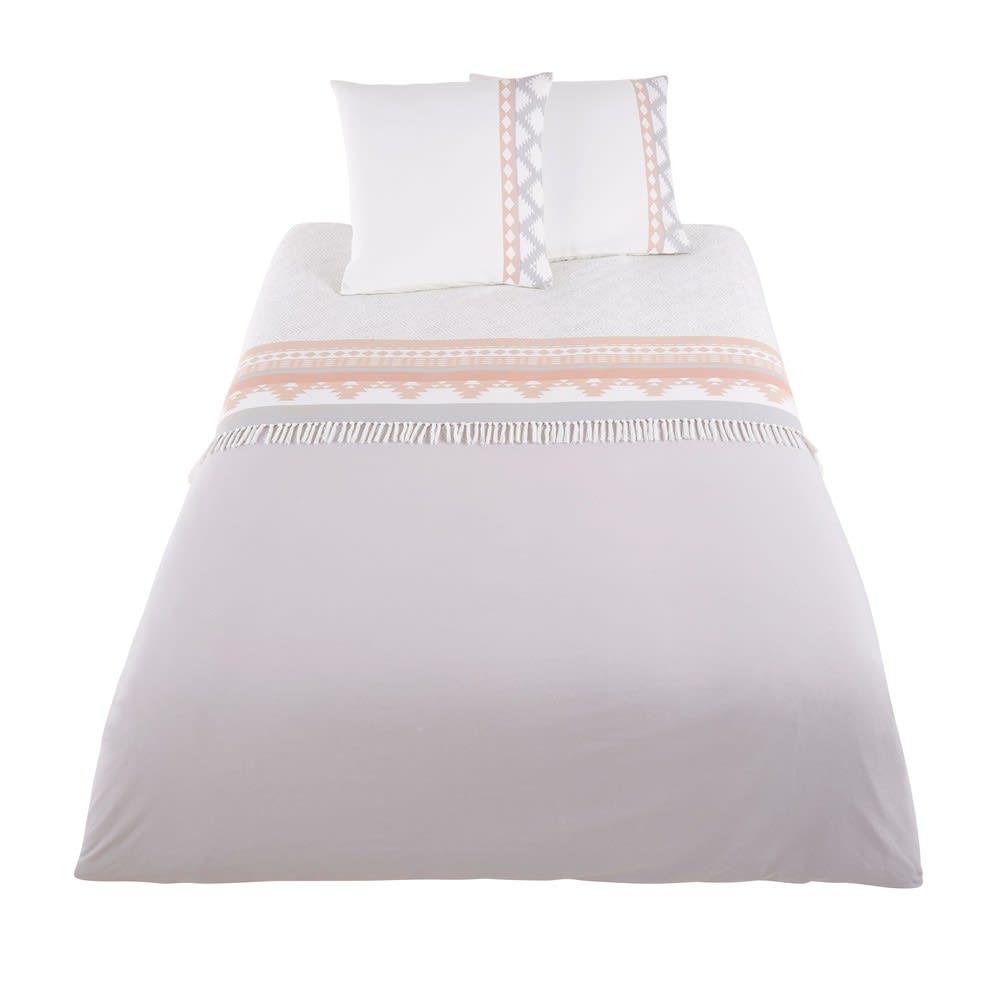 parure de lit en coton motifs graphiques 220x240 tulum. Black Bedroom Furniture Sets. Home Design Ideas
