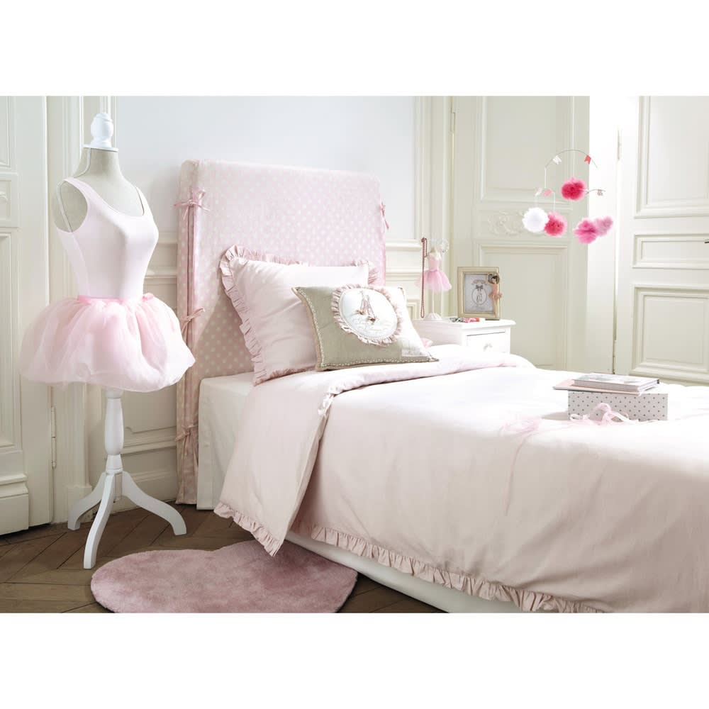 parure de lit en coton rose 140x200 ana s maisons du monde. Black Bedroom Furniture Sets. Home Design Ideas