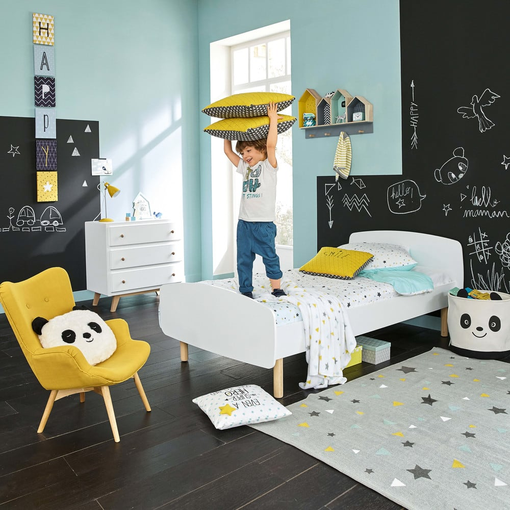 parure de lit enfant 140x200 en coton graphikids maisons. Black Bedroom Furniture Sets. Home Design Ideas