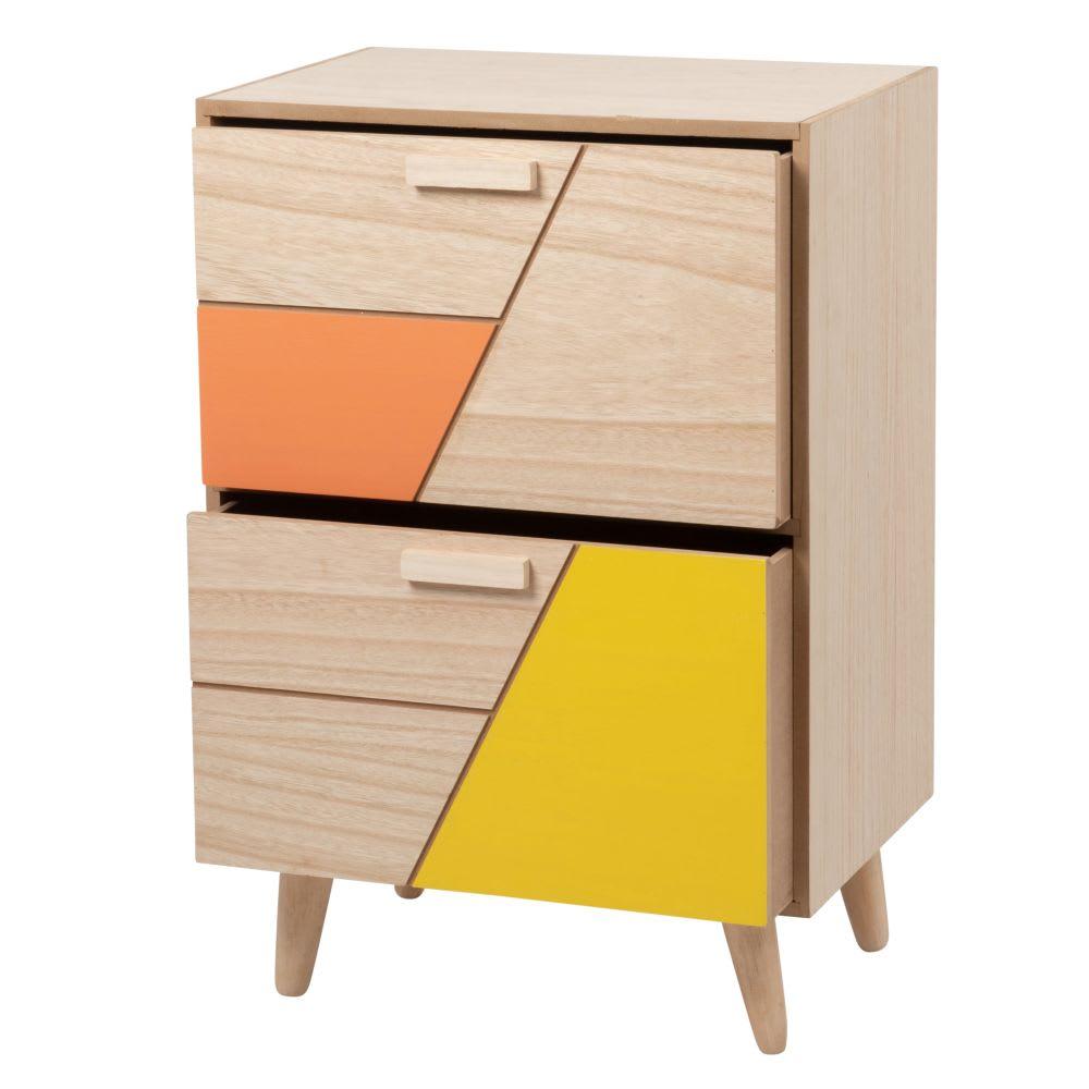 petit meuble de rangement 2 tiroirs color s mandry. Black Bedroom Furniture Sets. Home Design Ideas