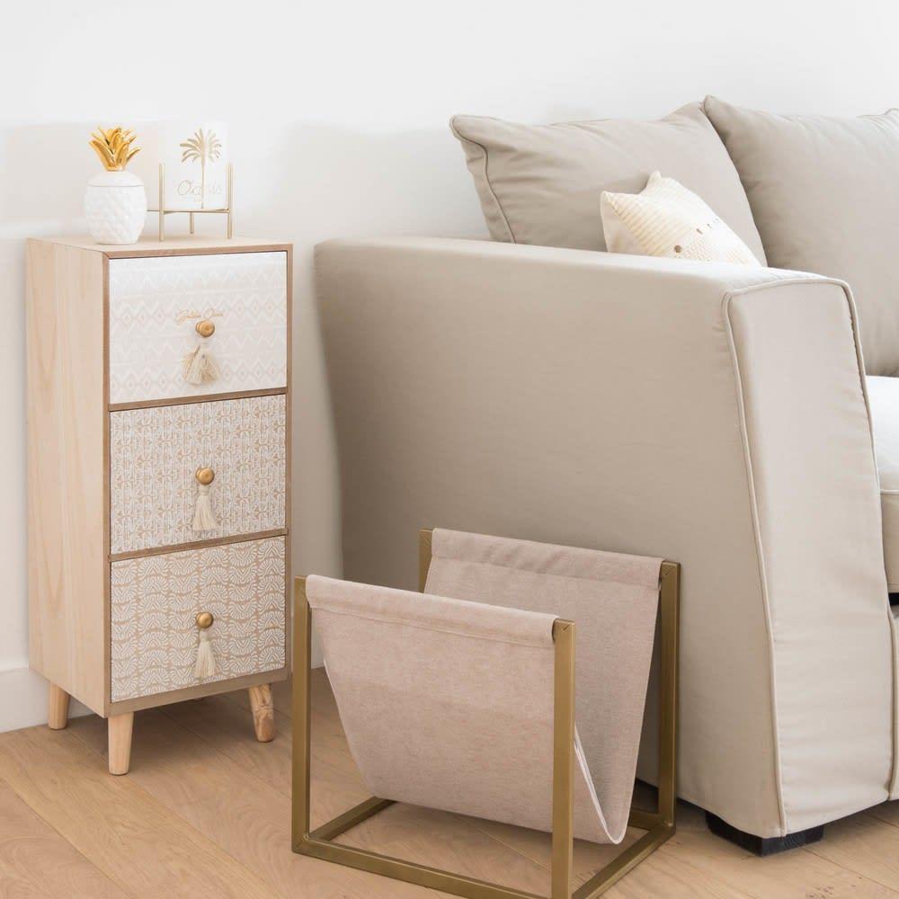 petit meuble de rangement 3 tiroirs maisons du monde. Black Bedroom Furniture Sets. Home Design Ideas