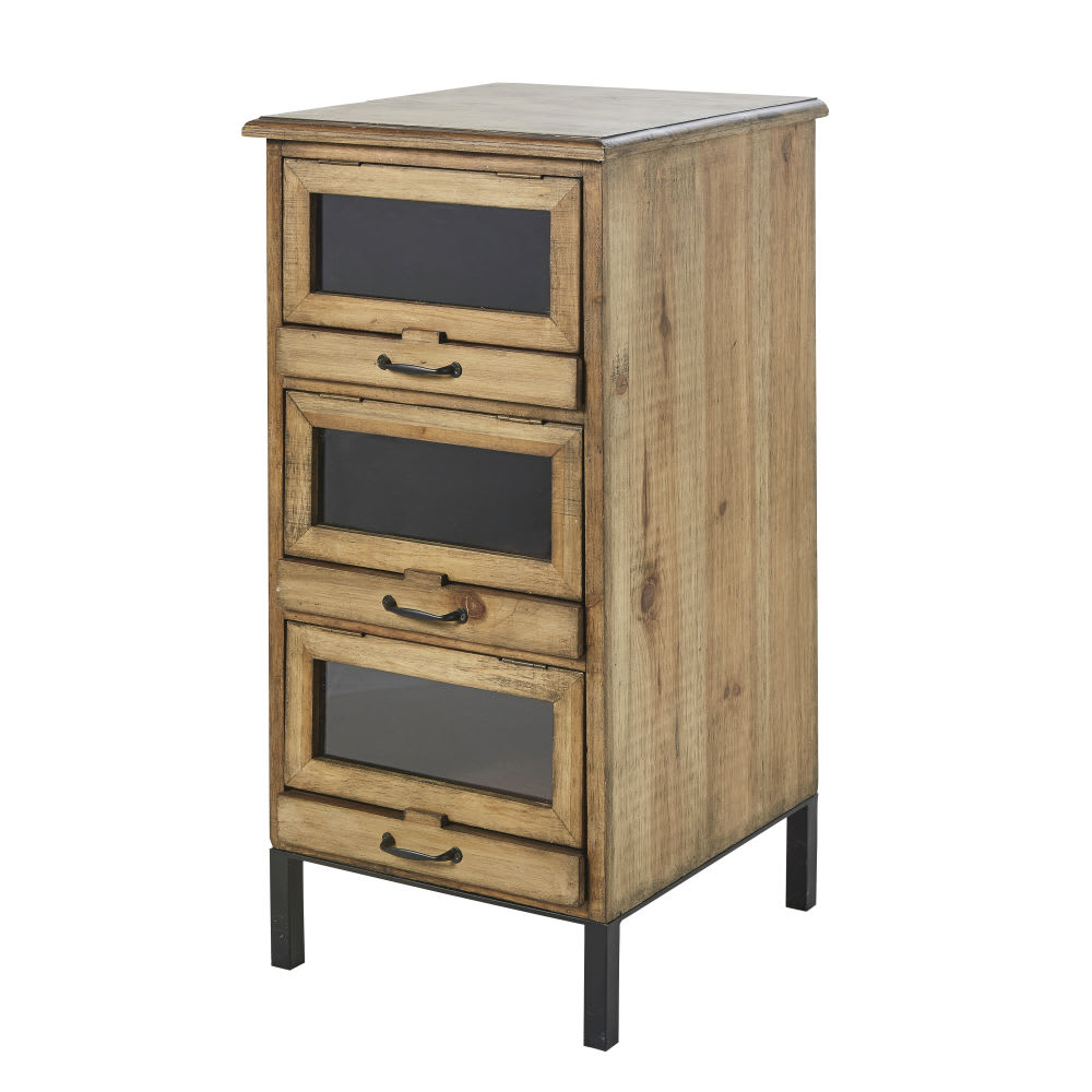 petit meuble de rangement 3 tiroirs jadis maisons du monde. Black Bedroom Furniture Sets. Home Design Ideas