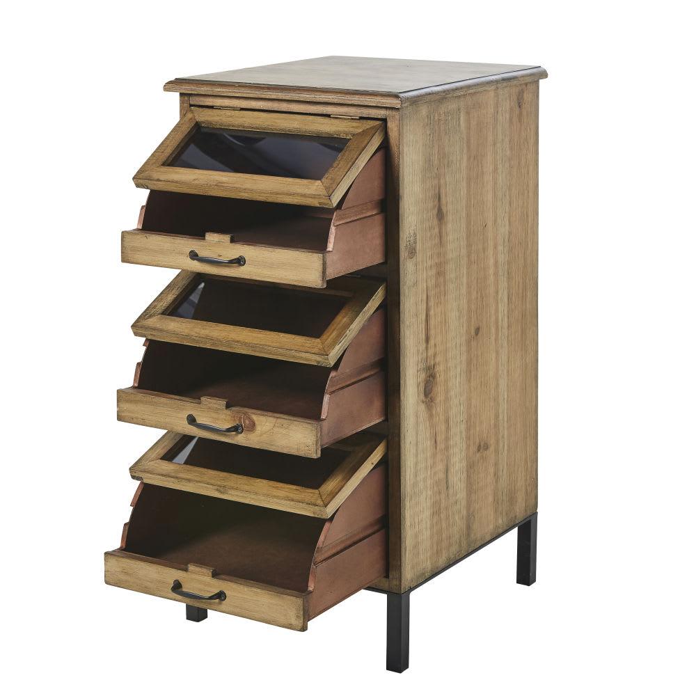 Petit meuble de rangement 3 tiroirs Jadis   Maisons du Monde