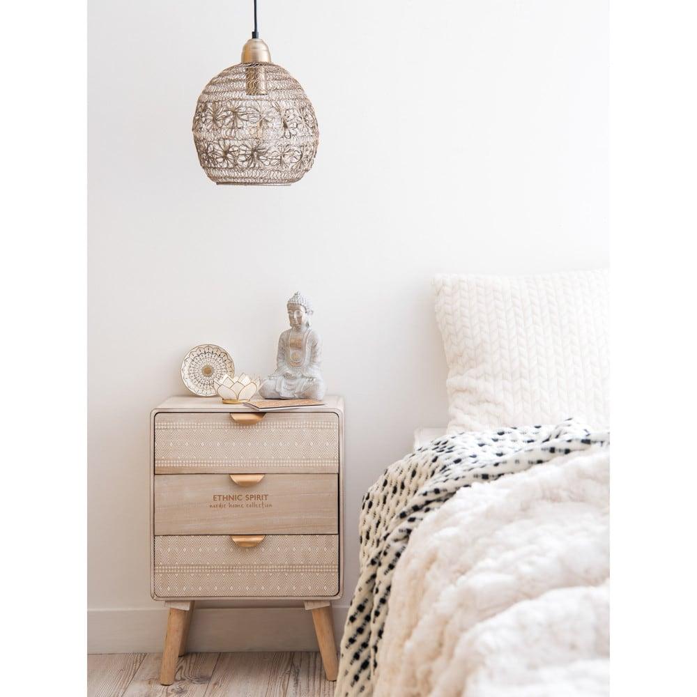 petit meuble de rangement 3 tiroirs motifs ethnik. Black Bedroom Furniture Sets. Home Design Ideas