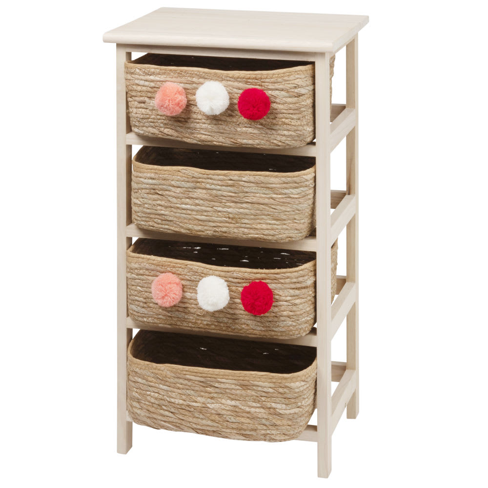 Petit meuble de rangement 4 tiroirs en paulownia Toa | Maisons du Monde