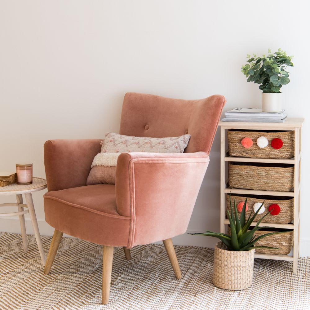 petit meuble de rangement 4 tiroirs en paulownia toa. Black Bedroom Furniture Sets. Home Design Ideas